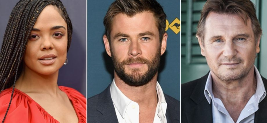 Chris Hemsworth - Tessa Thompson - Liam Neeson in New Men In Black - Newslibre