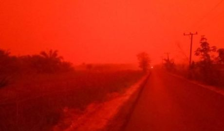 There has been a blood red haze in Indonesia.