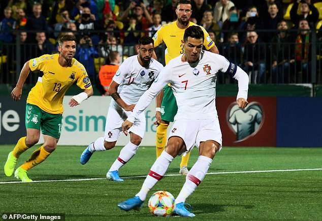 Ronaldo Scores 4 as Portugal Beat Lithuania in Euro Qualifiers 2