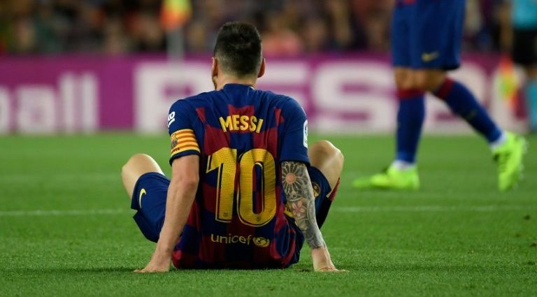 Messi Injured Again After Win Against Villareal 1