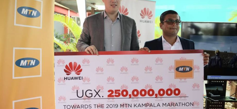 Huawei Gives 250,000,000 shillings to Maternal Health Care in Uganda As Partners of MTN Marathon 1