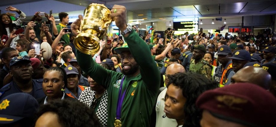 Rugby World Cup Trophy Makes It's Way Home 1