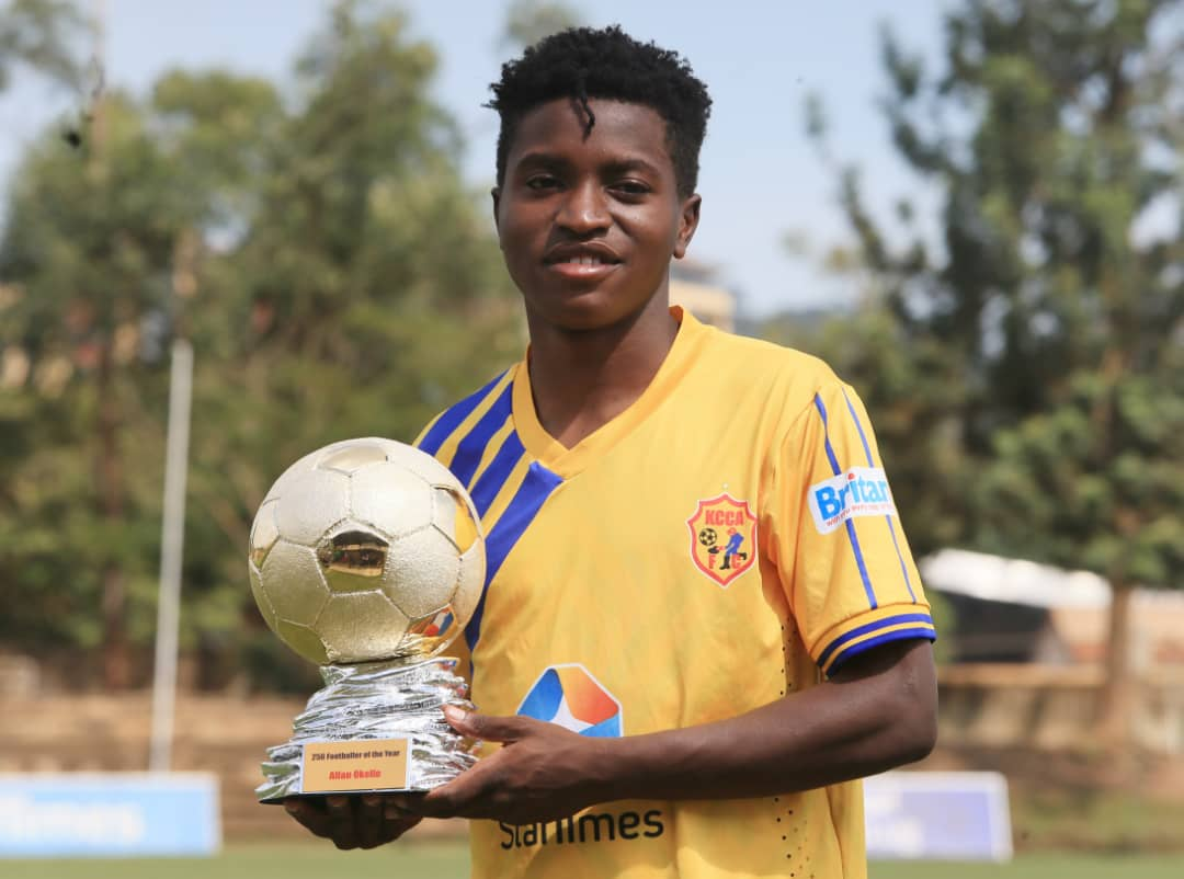 Allan Okello Wins Football256 Football Player of The Year Award 2