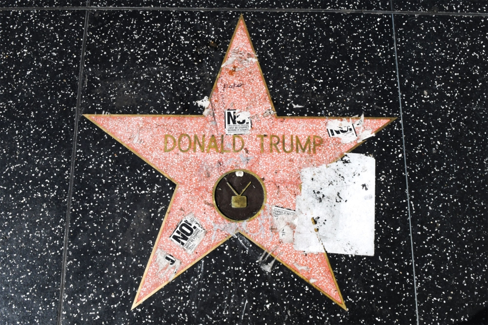 Donald Trump's Hollywood star continuously vandalized.