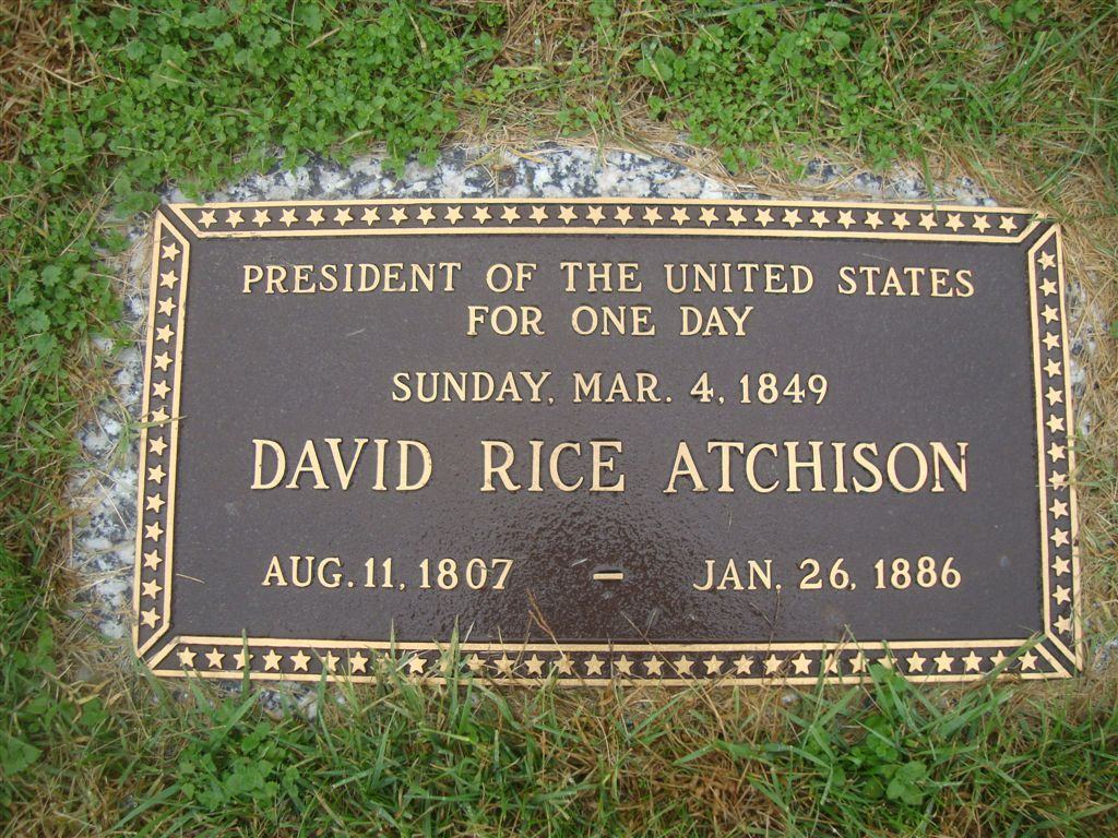 David Rice Atchison: American President for 1 Day - Newslibre
