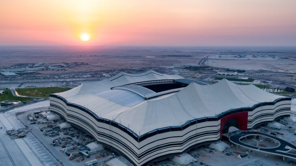 Al Bayt Stadium for opening game of the 2022 World Cup in Qatar
