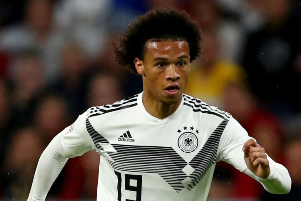 Leroy Sane playing for Germany - Newslibre