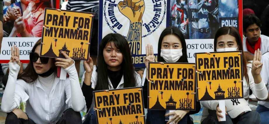 Massacre As Security Forces Fire at Protestors In Myanmar - Newslibre
